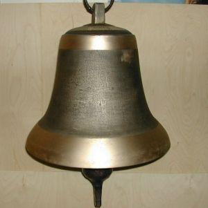 Bronzeglocke mit geschmiedetem Stahlschwengel groß 40 kg